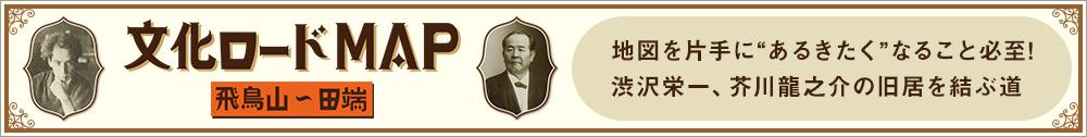 文化ロードマップ 飛鳥山〜田端 地図を片手に「あるきたく」なること必至!渋沢栄一、芥川龍之介の旧居を結ぶ道